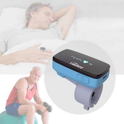 #3. LOOKEE O2 Monitor Oxygen & Heart Rate Tracker with Free Mobile App for Sleep Insights