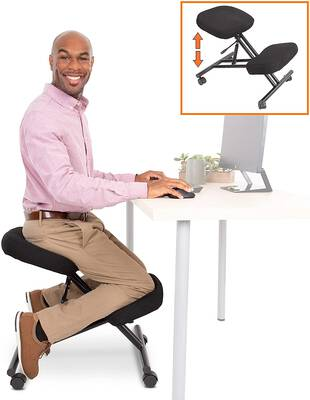 #7. Stand Steady ProErgo Pneumatic Fully Adjustable Ergonomic Kneeling Chair for Home & Office