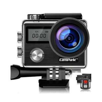 7. Campark 2 inch Screen Size WIFI Action Camera with EIS Touch Screen and Two Batteries