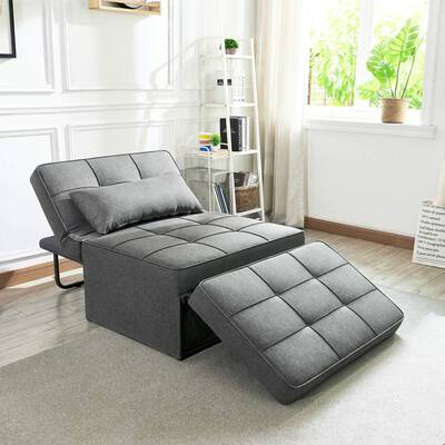 #8. Vonanda Sofa Bed, Folding Single Sleeper Ottoman Chair