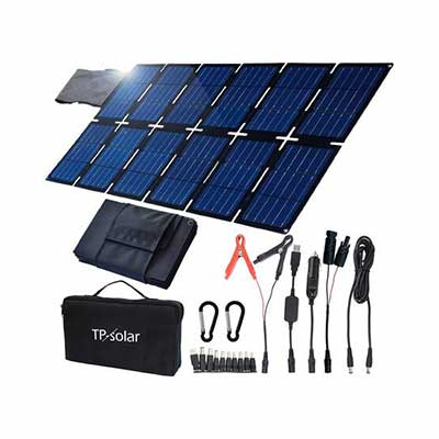6. TP-Solar Foldable Portable Solar Panel Charger Kit 100W for Portable Generator Power Station