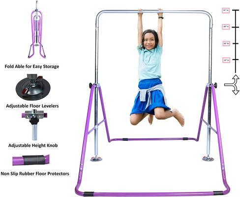 #7. Athletic Bar Gymnastics Bar with Adjustable Height