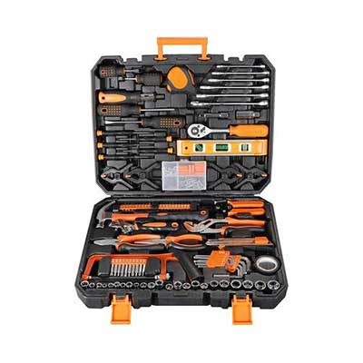 #7. F2C 169-Pcs Portable General Household Repair DIY Home Tool Kit Set w/Toolbox Storage Case