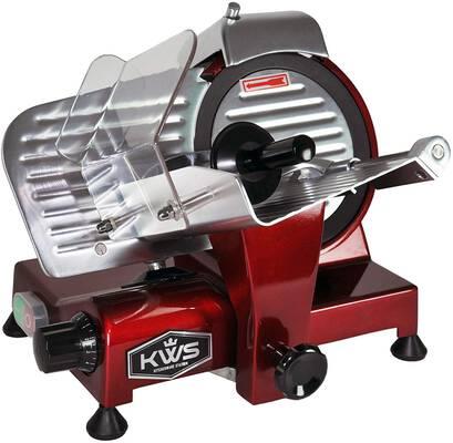 1. KWS KitchenWare Station 320W 10 Inch 10XT Electric Food Meat Slicer w/Non-Sticky Blade