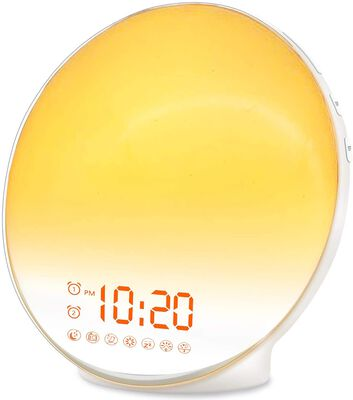 3. Jall 7 Natural Sounds Wake Up Sunrise Alarm Clock for Kids and Heavy Sleepers