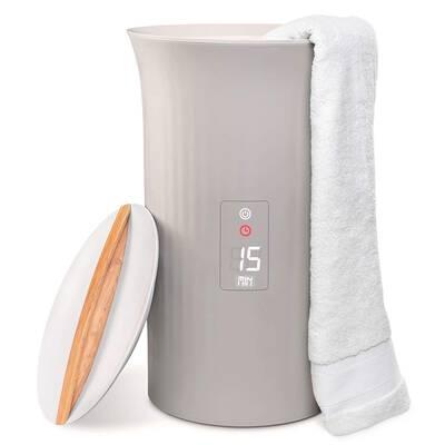 #9. LiveFine Large Bucket Style Adjustable Timer w/LED Display Auto-Shut-Off Luxury Towel Warmer.
