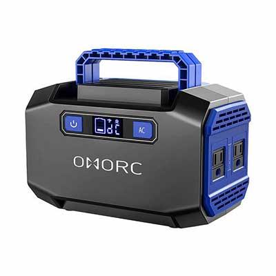 10. OMORC 250W Peak Mpow Portable Power Station w/2 AC 2 USB Outlets & 3 Ports Solar Generator