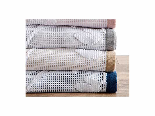 #4. Great Bay Home 100% Cotton Decorative Hand towel set