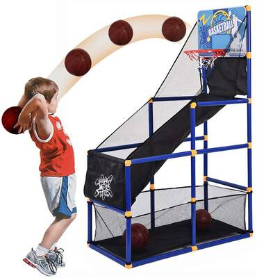 #4. Airpow Kid's Basketball Arcade Game-Indoor Basketball Shooting Training System