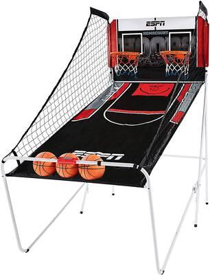 #3. ESPN Indoor Home 2 Player Hoop Shooting Basketball Arcade Game with Preset Games