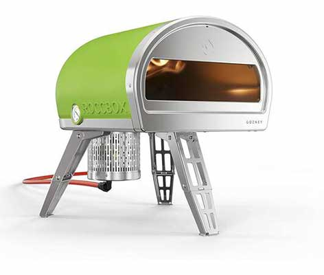 #9. ROCCBOX Safe Touch Gas Fired & Stone Premium Portable Outdoor Pizza Oven By Gozney (Green)