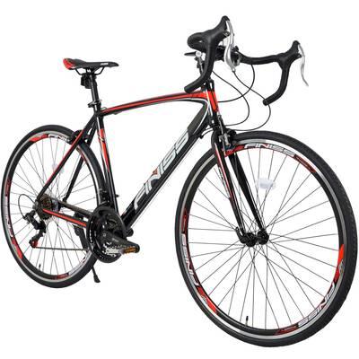 #10. Merax Lightweight & Sturdy 6061 Aluminum 21 Speed 700C Finiss Road Bike Racing Bicycle