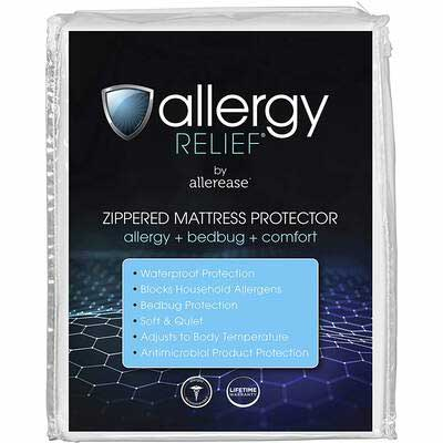 1. AllerEase Queen Size Zippered Mattress Protector, Machine Washable