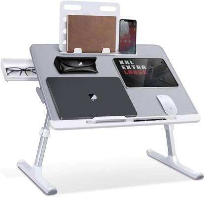 #1. SAIJI Adjustable Laptop Bed Tray Desk