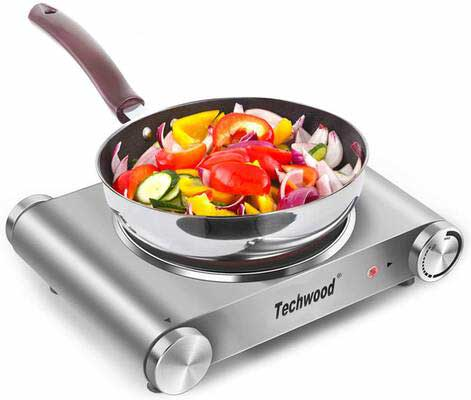#8. Techwood Hot Plate Burner with Adjustable Temperature Control
