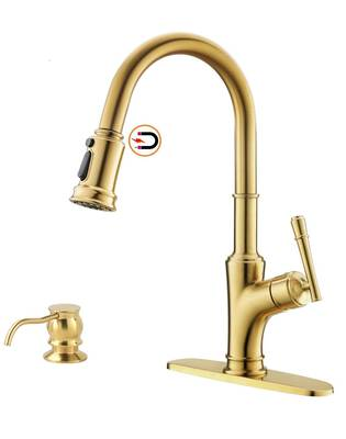 #6. APPASO Gold Kitchen Faucet with Pull Down Magnetic Docking Sprayer