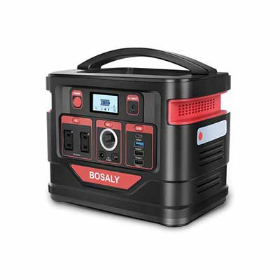 5. BOSALY 110V 300W Solar Generator Pure Sine Wave AC Outlet Portable Power Station