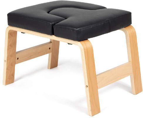 4. Milliard High-Quality Wooden Yoga Headstand Bench and Gym Workout Stool
