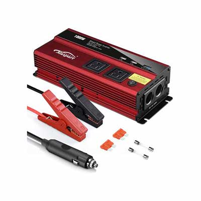 3. TWING 12V DC to110v AC Converter 1000W Inverter Truck RV w/Dual AC Outlets 2.4A
