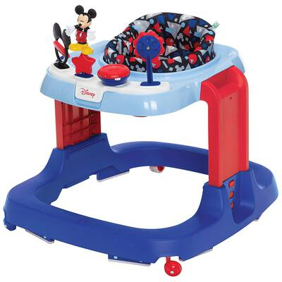 #6. Disney DX Developmental Walker Mickey Modern Play Baby Ready Sit to Stand Activity Center