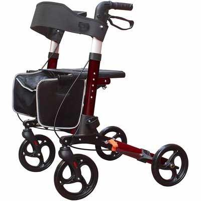 10. KarePro Lightweight Folding Rollator Walker with Seat