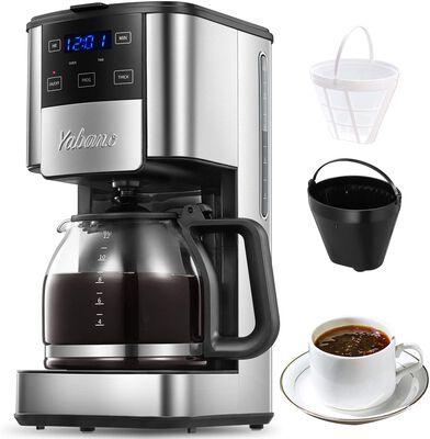 8. Yabano 12 Cups Brew Strength Control Anti-Drip Unit Programmable Coffee Machine