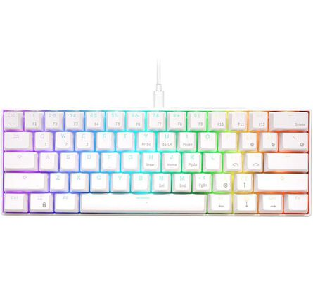 4. RK Royal Kludge Brown Ultra-Compact Wired PC Gaming Keyboard for High Performance