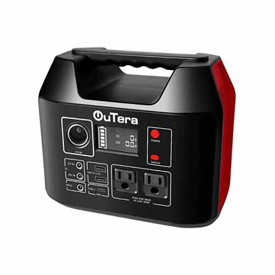 6. OUTERA 110V/300W 298Wh Outdoor Solar Generator Portable Power Station for Laptops