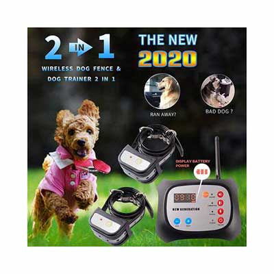 6. JUSTPET 2-in-1 Wireless Dog Fence with a Reflective Collar