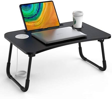 #10. Elekin Multifunctional Folding Laptop Bed Desk