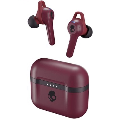 5. Skullcandy 3 EQ Modes Dust Resistant True Wireless Bluetooth Earbuds (Deep Red)