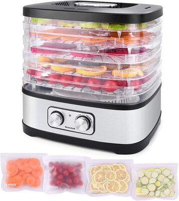 8. SEEUTEK 4 Pcs 5 BPA-Free Trays Electric Food Dehydrator Machine w/Adjustable Temperature