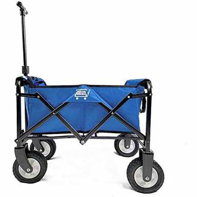 9. PA IPA009201B Steel Frame Durable Collapsible Outdoor Garden Cart Foldable Wagon w/Wheels