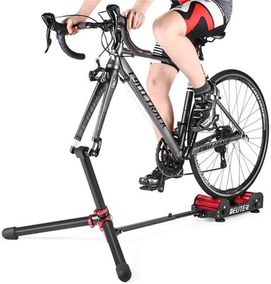 5. Deuter Portable Adjustable Magnetic Bike Trainer Stand with 5 Levels of Resistance