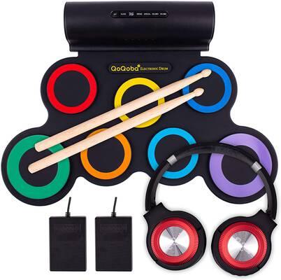 7. QoQoba Electronic Drum Set (RAINBOW)