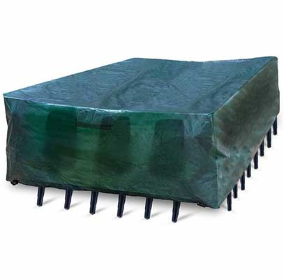 10. Red Fox Green Tear-Resistant UV Resistant Sectional Cover Outdoor Patio Furniture Cover