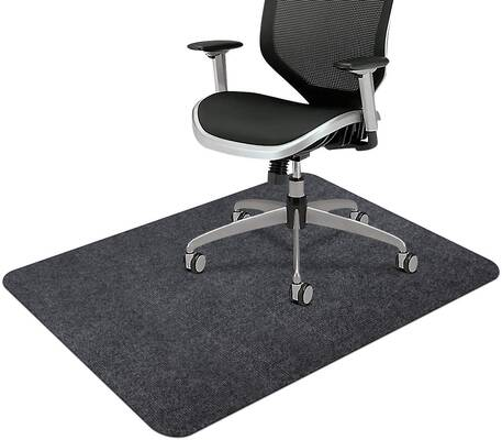 5. SALLOUS Dark Grey 1/6 Inch Thick Multi-Purpose Office Desk Chair for Hardwood for Home