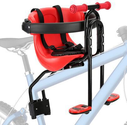 6. FORTOP Bicycle Baby Front-Mount Seat with Handrail