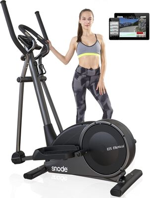 3. Snode Magnetic Low Impact Cross Trainer Machine with 32 Levels of Resistance