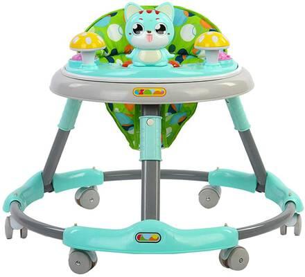 #4. ROLENUNE Baby Infant Walker Activity w/Wheels Sit-to-Stand Walker Ride Balance Stroller (Green)