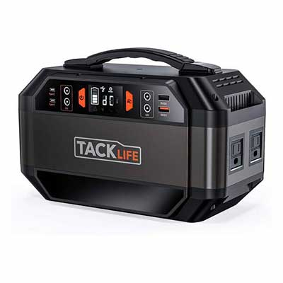2. TACKLIFE P30 299Wh Solar Ready Battery Generator w/Pure Sine Wave for Outdoor Camping
