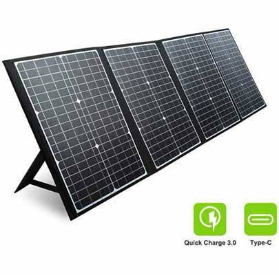 4. PAXCESS 120W 18V Foldable Portable Solar Panel Charger w/USB QC 3.0 for RV Camping