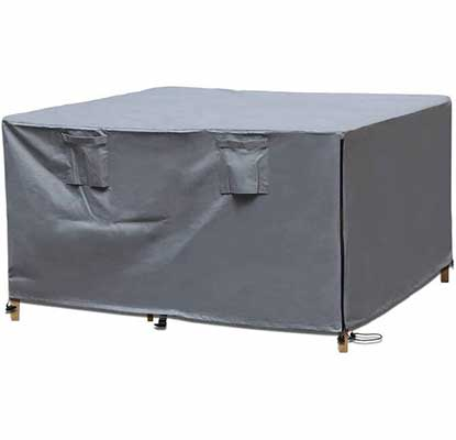 9. ORDORA 600D Heavy-Duty Sun & Wind Resistant Waterproof Sq. Easy Install Patio Table & Cover