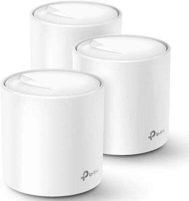4. TP-Link 3 Pack 6 AX3000 Deco X60 Wi-Fi 3000 MB/S 2 Ports Whole Home Mesh Wi-Fi
