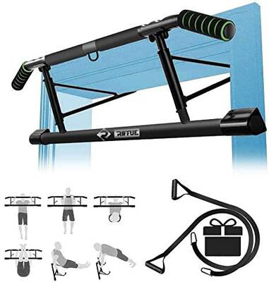 #6. Kaufam Multifunctional Pull Up Bar for Doorway with Mount Hook