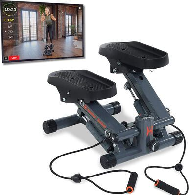 2. Women's Health Men's Health Bluetooth Mini Stepper Machine with Adjustable Resistance
