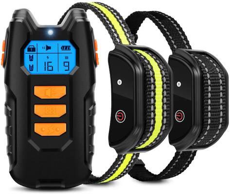 10. Flittor 2 Reciever Rechargeable Shock Collar Waterproof Bark Dog Training Collar
