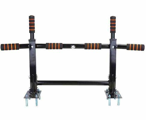 #1. Jiming Doorway Pull Up and Chin Up Bar Upper Body Workout Bar