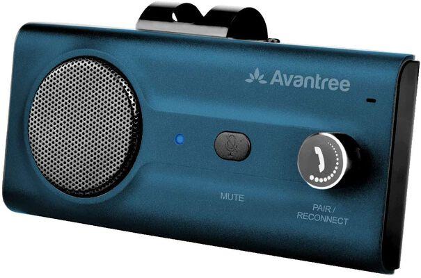 9. AVANTREE Auto On/Off CK11 Hands-Free Bluetooth 5.0 Car Kits Support Siri Google (Blue)