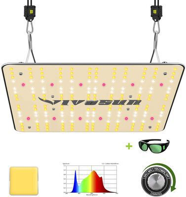 4. VIVOSUN VS1000 Samsung LM301H Full Spectrum LED Grow Light Dimmable for Indoor Plants